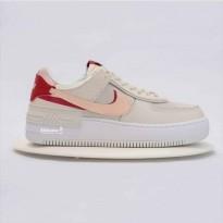 Giày Thể Thao Nike Air Force 1 Shadow Trắng Viền Đỏ
