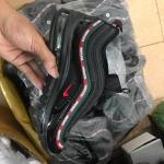 Giày Thể Thao Nike Air Max 97 Đen Viền Đỏ