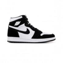 Giày Nike Air Jordan 1 Đen Trắng Retro High Black White Bằng Nhung