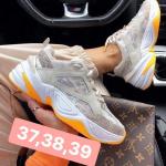 Giày Thể Thao Nike M2K Tekno Trắng Đế Cam