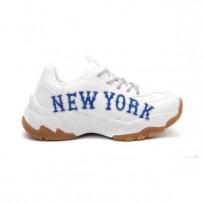 MLB New York trắng chữ xanh