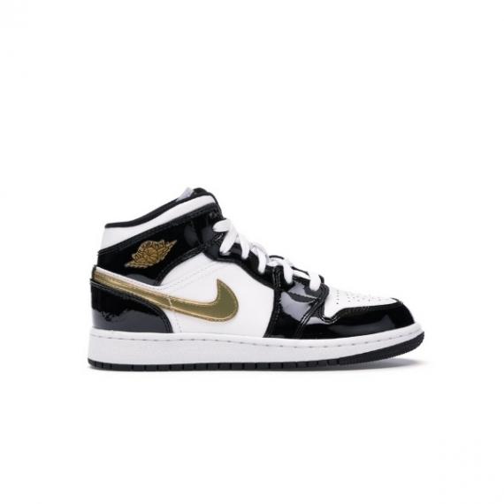 Nike Air Jordan 1 Mid GS black Gold