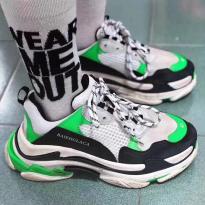 Sneaker Balenciaga Triple S Xanh Đen