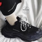 Giày Sneaker Balenciaga Triple S Đen