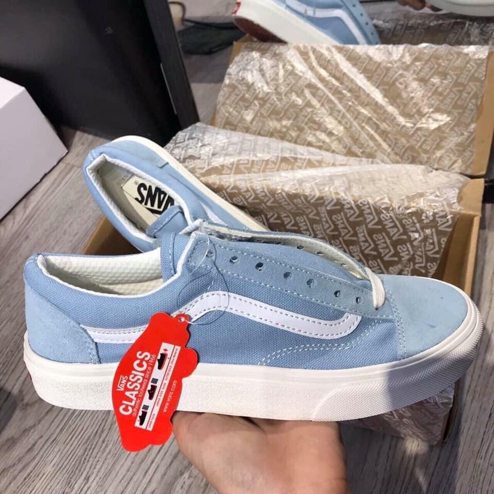 Bề ngang giày Vans màu xanh Old Skool