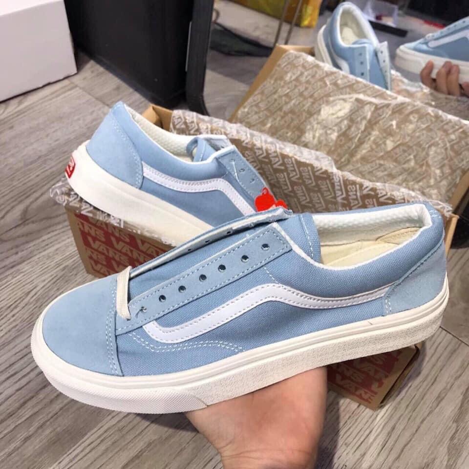 Giày Vans màu xanh nước biển tuyệt đẹp